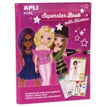 Książka do projektowania mody Apli Kids - Superstar