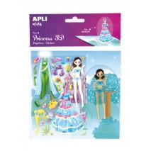 Naklejki 3D Księżniczka Apli Kids - Noa