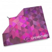 Ręcznik szybkoschnący SoftFibre Lifeventure - Różowe trójkąty 150x90 cm
