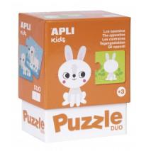 Puzzle dwuczęściowe Apli Kids - Przeciwieństwa 3+