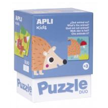 Puzzle dwuczęściowe Apli Kids - Jakie to zwierzątko? 3+