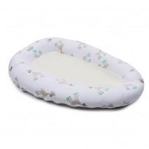 Oddychający materac, gniazdko do spania dla niemowląt PurFlo - Żyrafy