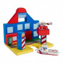 Zabawka do kąpieli BathBlocks - Straż przybrzeżna z helikopterem 19 el.