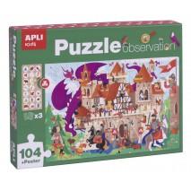 Puzzle obserwacyjne Apli Kids - Zamek 104 el.5+