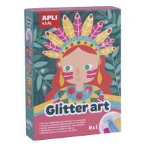 Zestaw artystyczny z brokatem Apli Kids
