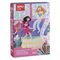Zestaw artystyczny kalkomanii z folią Apli Kids - Moda