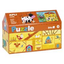 Puzzle w kartonowym domku Apli Kids - Na wsi 3+