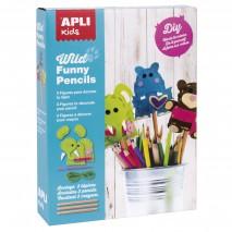 Zestaw artystyczny do szycia Apli Kids - Dzikie zwierzęta