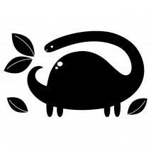 Tablica naklejka kredowa Apli Kids - Dinozaur