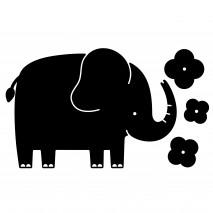 Tablica naklejka kredowa Apli Kids - Słoń