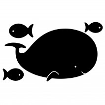 Tablica naklejka kredowa Apli Kids - Wieloryb