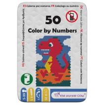 Podróżne łamigłówki The Purple Cow - 50 Koloruj po liczbach