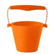 Składane wiaderko do wody i piasku Scrunch Bucket - Pomarańczowy
