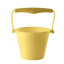 Składane wiaderko do wody i piasku Scrunch Bucket - Pastelowy Żółty