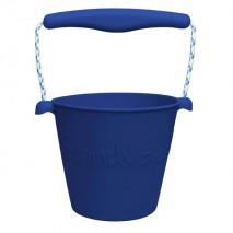 Składane wiaderko do wody i piasku Scrunch Bucket - Granatowy
