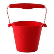 Składane wiaderko do wody i piasku Scrunch Bucket - Czerwony