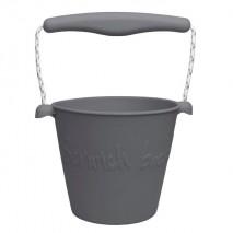 Składane wiaderko do wody i piasku Scrunch Bucket - Ciemny Szary
