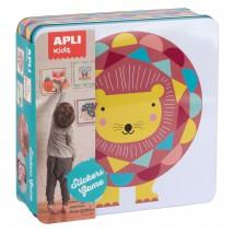 Zestaw kreatywny z naklejkami Apli Kids - Lew