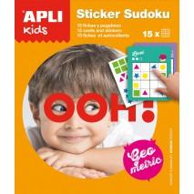 Gra podróżna z naklejkami Apli Kids - Sudoku kształty