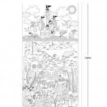 Gigantyczny plakat, naklejka do kolorowania Apli Kids - Morska przygoda