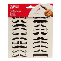 Tatuaże na palce Apli Kids - Wąsy