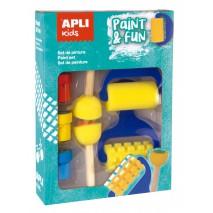 Zestaw stempelków i wałków z farbkami Apli Kids