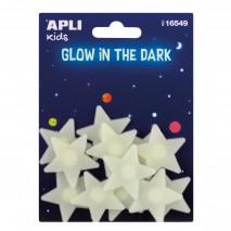 Fluorescencyjne naklejki Apli Kids - Małe Gwiazdki 12 sztuk