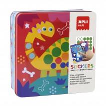 Zestaw kreatywny z naklejkami Apli Kids - Dinozaury