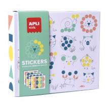 Zestaw z naklejkami geometrycznymi Apli Kids - Zwierzęta