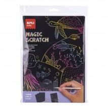 Zestaw wydrapywanek Apli Kids - Magic Scratch A4