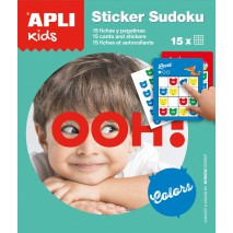 Gra podróżna z naklejkami Apli Kids - Sudoku kolory