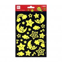 Naklejki świecące w ciemności Apli Kids - Księżyc i gwiazdy