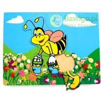 Drewniana układanka pszczółka