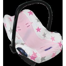 Pokrowiec do fotelika Dooky Seat Cover Pink Stars