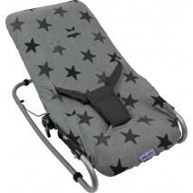 Pokrowiec na leżaczek Dooky Bouncer Cover - Grey Stars