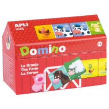Domino w kartonowym domku Apli Kids - Farma